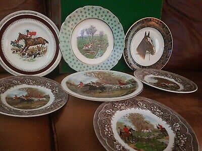 Beautiful Collection Horse Hunting Plates Including Grays And Crown Ducal • 28£