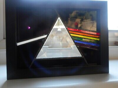 Stained Glass Pink Floyd Dark Side Of The Moon Box Frame • 50£