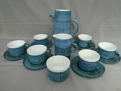 A Rare Troika Coffee Set - Some Pieces A/F - Signed Coffee Pot • 295£
