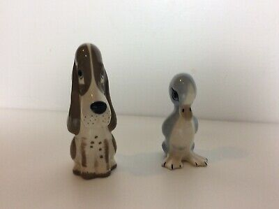 Vintage Szeiler Sad Sam Dog & Blue Duck Ornament  Figure Lot Set • 9.99£