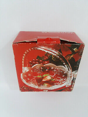 German Waltherglas Glass Father Christmas/Reindeer Footed Basket  Sweets  Fruit  • 17.99£