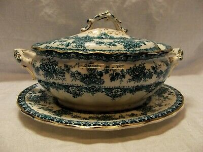 Antique Small Lidded Vegetable Dish By Keeling & Co.,  Watford  Pattern • 28£