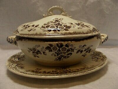 Antique Small Lidded Vegetable Dish   • 15£