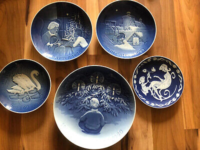 Lovely Collection Of 5 B&g Copenhagen Wall Plates • 19.99£
