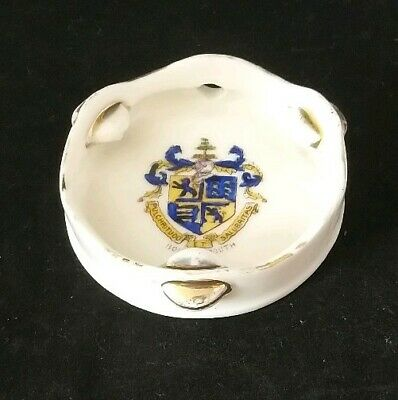 Gemma Crested China Tambourine Bournemouth Crest Rare Musical Instrument • 14£