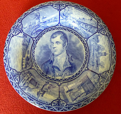 Antique Hancock Sampson Burns Portrait Plate - Circa 1906 • 19.99£
