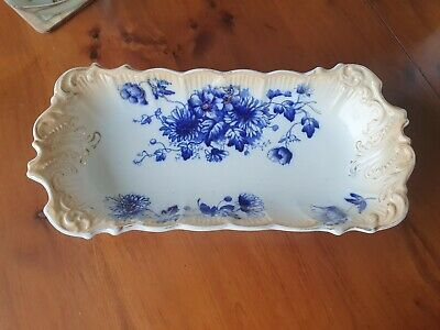 Vintage Pretty Flow Blue  Oblong Serving/nibbles  Dish  • 9.50£