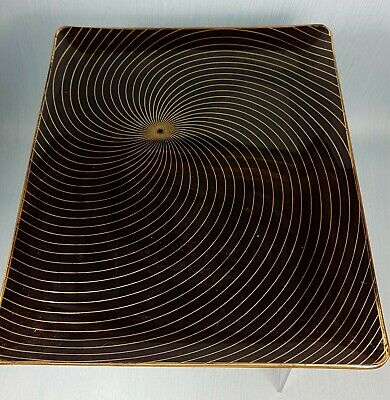 Vintage Chance Brothers Calypto Square Swirl Glass Plate • 8£