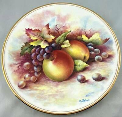 Royal Vale Fruit Plate Apples Grapes Signed By Royal Worcester Artist D Wallace • 14.99£