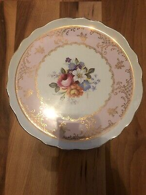 Beautiful Old Foley Bouquet Pattern Floral Cake Plate • 13.99£