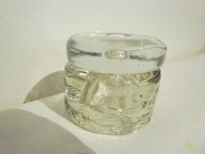 Vintage Clear Art Glass Pot With Lid Paperweight Ornament • 8£
