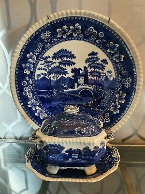 Wonderful Spode Tower Large Wall Charger And Tureen With Plate • 35£
