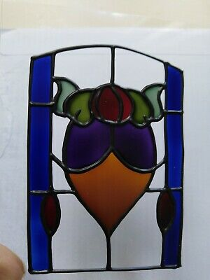 Set Of 3 X Hand Painted Sun Catchers.  Stained Glass Style. Art Nouveau • 3£