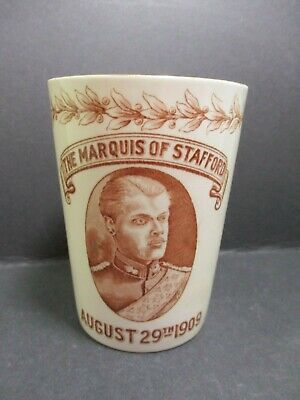 The Marquis Of Stafford - Royal Scots Greys - August 1909 Souvenir Fieldings Mug • 28£