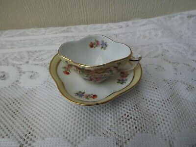 Orchid Miniature Cup And Saucer - Fine China • 8.50£