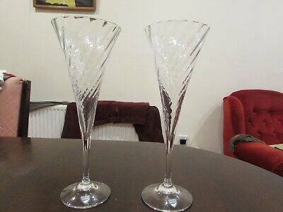 2 Orrefors  Helena Crystal Champagne Flutes-With Labels-VG Condition-UK  • 39£