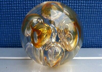 Vintage LANGHAM Glass Paperweight • 24£