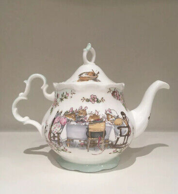 Royal Doulton Brambly Hedge Teapot Full Size 'Tea Service' Jill Barkham 1985 • 124.99£