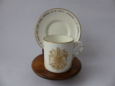 Vintage Royal Worcester Cup & Saucer - Royal Wedding, Prince Charles,Lady Diana • 24.99£