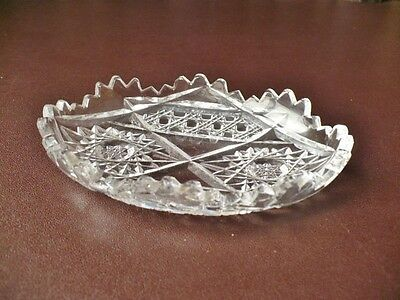 Antique Glass Pin-Dish - Nibbles Dish - Party Ware • 14.99£