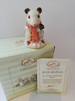 Royal Doulton Brambly Hedge Lets Make A Snowmouse Dbh 67 Boxed  • 99.99£
