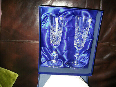 A Pair Of Royal Doulton Champagne Flutes - Boxed .Golfer • 10£