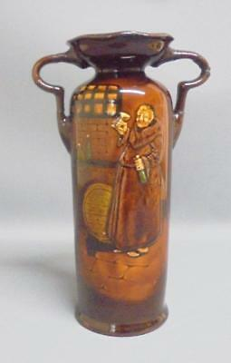 Royal Doulton Kingsware Two Handled Vase With Drinking MONK Design 1934 • 105£