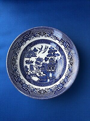 Churchill Pottery England Willow Pattern Blue And White Small Cereal Soup Bowl • 9.99£