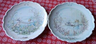 Royal Doulton Christine Thwaites Wind In The Willows Wall Plate X 2 • 12£