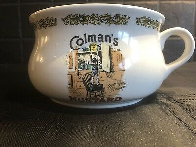 LORD NELSON POTTERY COLMAN'S MUSTARD ADVERTISING CHAMBER POT - Handcrafted • 17£