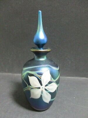 Okra Glass Scent / Perfume Bottle - 1991 Wo.4 14 Etched To Base • 95£