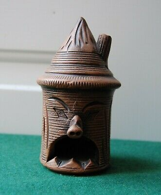 Mexican Incense Burner - Made In Mexico Clay Pottery Face Ornament • 26£