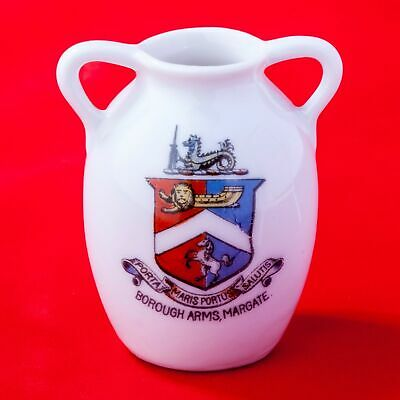 Unknown English Manufacturer Crested China Urn With Borough Of Margate Crest • 5.99£