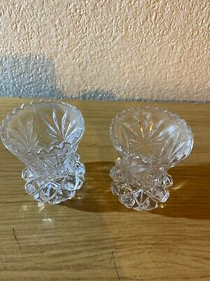 Pair Of Crystal Candle Holders • 9.99£