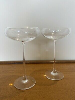"Royal Doulton Crystal ""SYMMETRY"" Champagne Saucer – 18cms (7-1/8″) Tall • 34.99£"