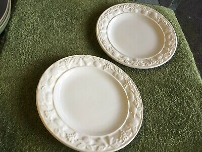 Marks And Spencer White Embossed Dessert Plates X 2 • 8.50£