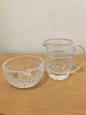Waterford Crystal Sugar Bowl And Creamer Set, Excellent Condition • 17.50£