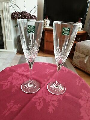 Thomas Webb Crystal Pair Of Champagne Flutes 8.5  • 26£