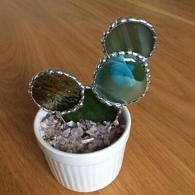 Hand Made Stained Glass Cactus Decoration • 15£