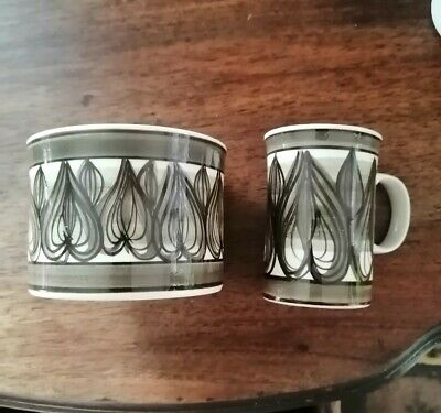 Retro JERSEY Pottery Mini Cup And Bowl • 12£