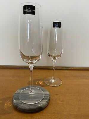 Pair Of Dartington Crystal Champagne Flutes Boxed • 9.99£