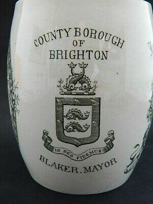 Borough Of Brighton Queen Victoria Diamond Jubilee Presentation Mug 1897 • 17.99£