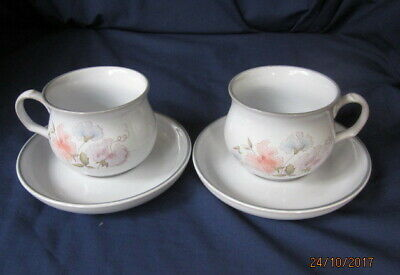 Denby Encore 2 X Tea Cups And Saucers Very Good Condition • 2.99£