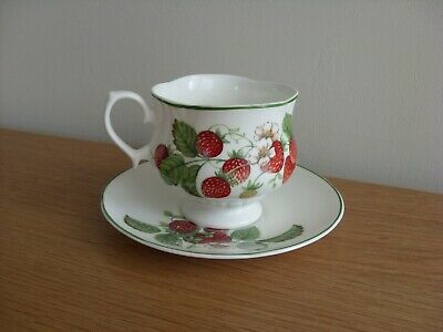Roy Kirkham - Fruit Garden ' Strawberry ' Quatrefoil Shaped Small Cup And Saucer • 6.99£