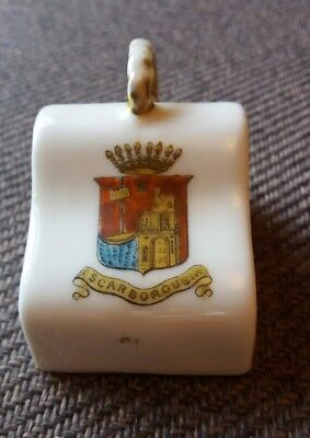 Miniature Butter / Cheese Dish (lid Only) Crested Scarborough • 1.99£