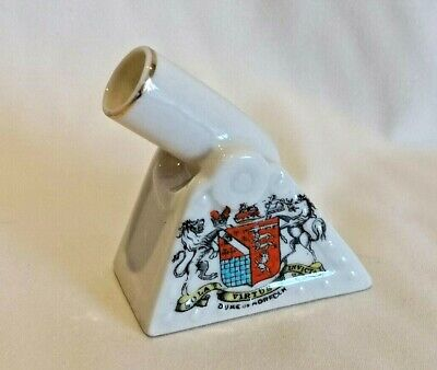 Crested China WW1 Trench Mortar Gun - Duke Of Norfolk Arundel Crest - 7cm Long  • 4.99£