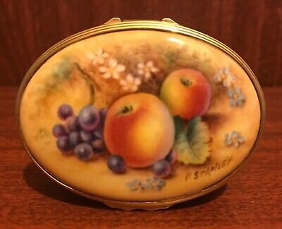 Royal Worcester Hand Painted Limited Edition Painted Fruits China Box • 100£