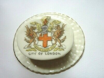 Crested China -  Boater  From City Of London - Made By Gemma -  Pre-owned • 1£