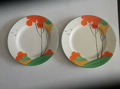 2 Art Deco Morley Ware  Rachel Shaw Production  Side Plates • 20£