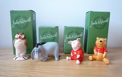 BESWICK FIGURES - WINNIE THE POOH SET OF FOUR.  All With Boxes • 75£